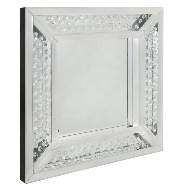 You Ll Love The Winston Floating Crystal Square Wall Mirror At Wayfair Co Uk Great Deals On All Ho Mirror Wall Bedroom Hanging Wall Mirror Mirror Design Wall