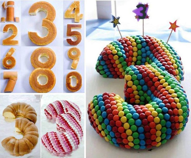 Les étapes à suivre pour faire des gâteaux avec les nombres!