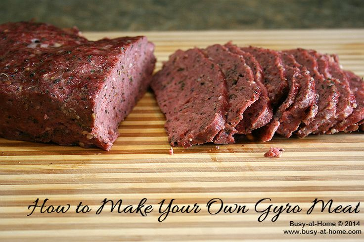 How to Make Your Own Gyro Meat, a Simple Recipe with Delicious Results plus a recipe for Tzatziki Sauce - Busy-at-Home