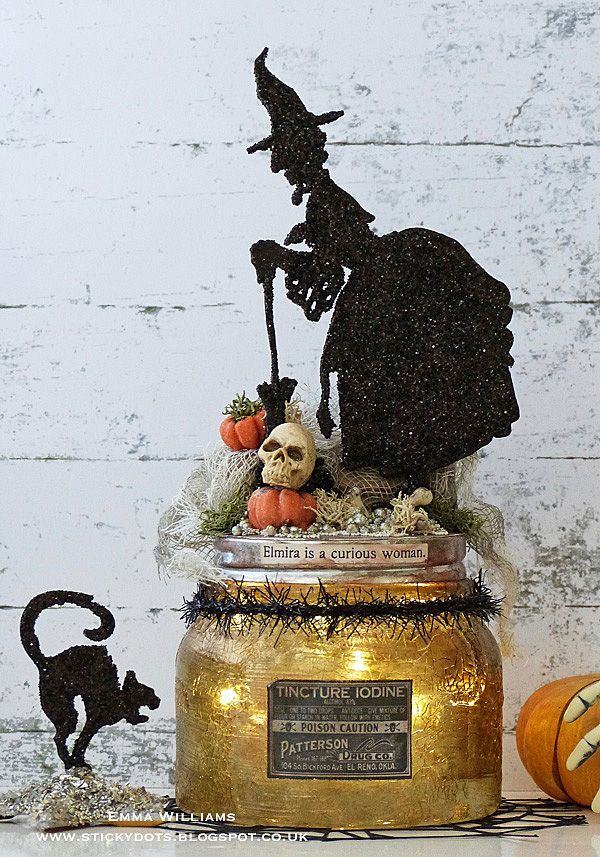 Halloween home decor created by Emma Williams for Simon Says Stamp Monday Challenge Blog