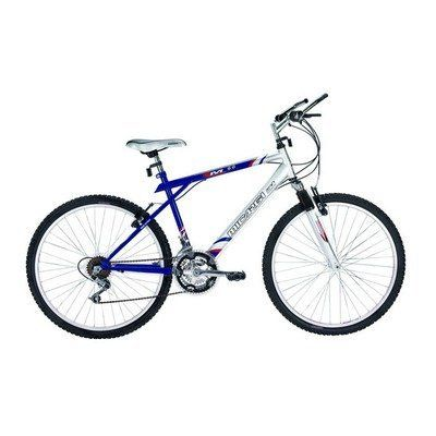 "Boy's M60 Mountain Bike by Micargi. $164.97. BlueKidsM60MntB Color: Blue Features: -Mountain Bike collection. -26"" MTB hi-ten steel Y-type full suspension frame. -Fork: Spring pressure suspension. -Derailleur: HG-04. -Shifters: Grip shift non-index. -Crank set: Steel 28/38/48T. -Handle bars: Steel. -Stem: Steel. -Brake levers: Plastic with steel. -Brakes: Plastic with steel V-brake. -Free wheel: Chinese 6-speed. -Seat post: Steel. -Hubs: Steel CP 36H. -Ages: 4 - 10. -Recomme..."