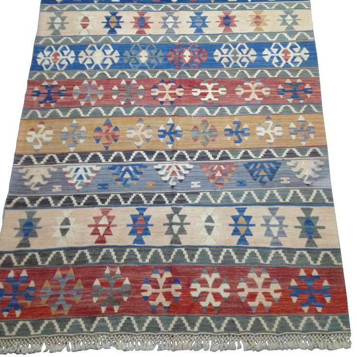 #tapis #kilim #artisanal #Anatolie #décoration #original #pastel