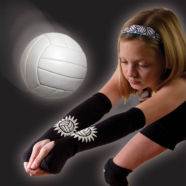 Volleyball padding sleeves! Had to laugh! Never seen these before but it seems like a good idea!