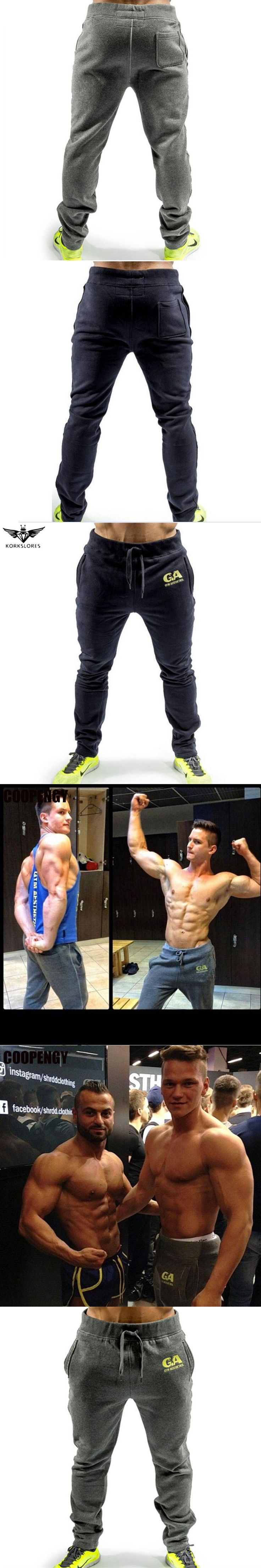 Mens gyms Fitness Sweatpants Pant Male Bodybuilding Workout drawers Casual Elastic Cotton Brand Trousers Joggers Pants for Men