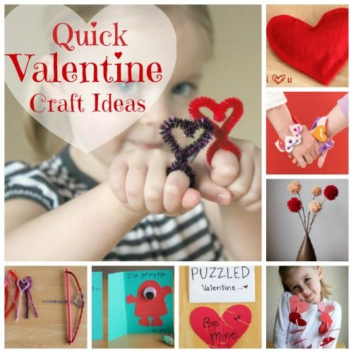 Here are you quick valentine craft ideas! #kids #valentines
