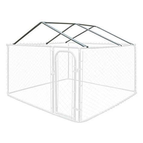 Amazon.com : ALEKO® Full Steel Chain Link Dividable Dog Kennel Roof Frame Only 10 x 10 Feet Galvanized Finish : Pet Supplies