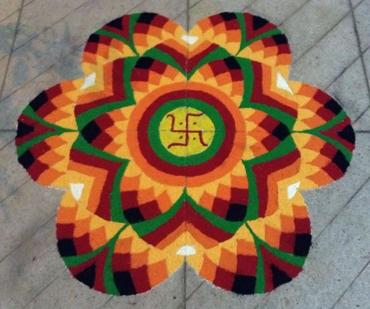 how to make colour combination for rangoli