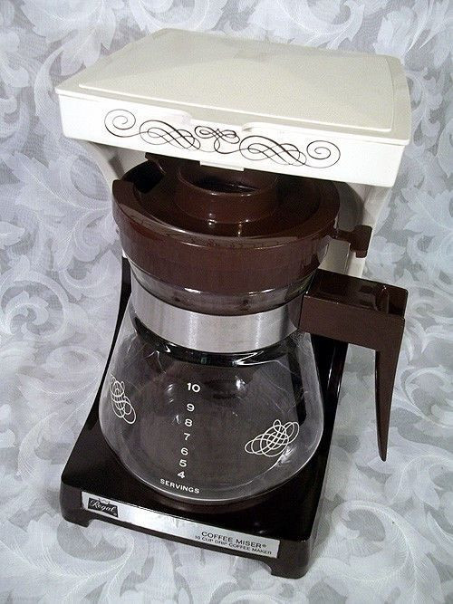 Vintage regal coffee miser 1-10 cup electric drip coffee maker model 7560 Vintage, Coffee ...