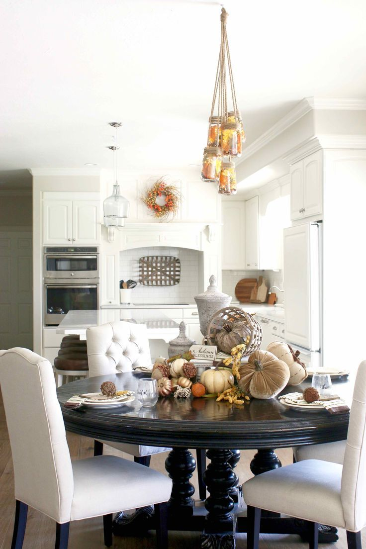 431 Best Inspire Dining Rooms Images On Pinterest  White Fascinating Ideas To Decorate Dining Room Table 2018