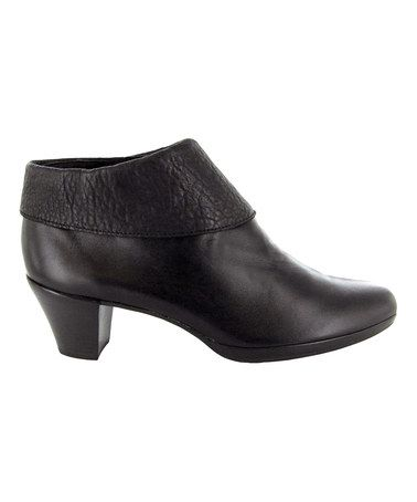 Look what I found on #zulily! Black Grace Leather Bootie by Munro Shoes #zulilyfinds