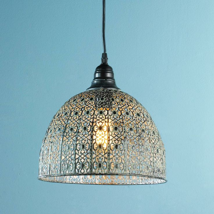 Vintage Lace Pendant Light bronze and white washed. http://www.shadesoflight.com/vintage-lace_pendant.html