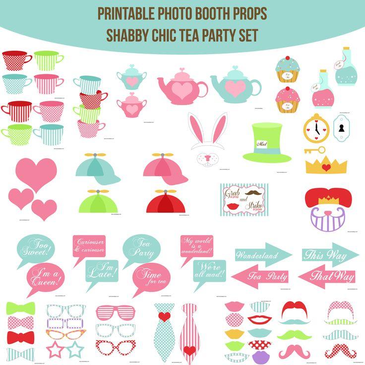 TeaPartyImage copy.jpg | Photobooth props printable, Diy ...