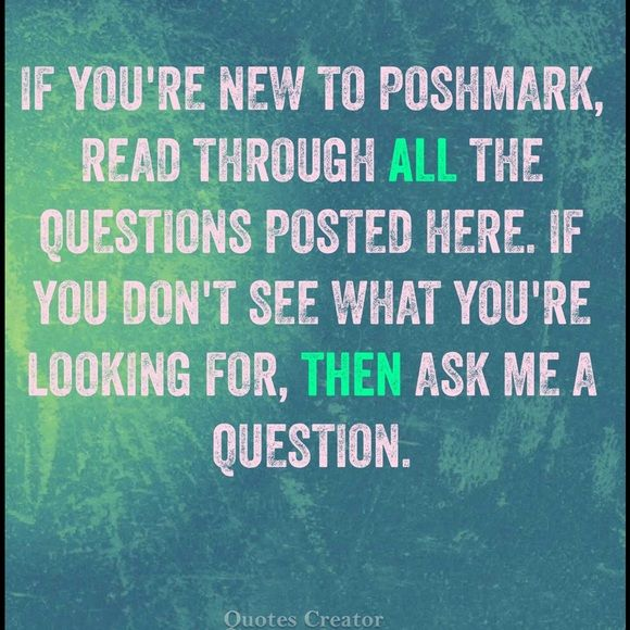 """Are you new to Poshmark? Read this thread 😃👍 FIRSTLY, read Poshmark's FAQ!!   Confused about the lingo? How do you pay? What does """"bundle"""" mean? Why are some prices astronomical? Get your answers here!!  I will do my best to reply to questions in a timely manner, but please forgive me in advance if I don't. 😊This FAQ is posted in @lilacrose closet and I thought I would post it here too. I know she's swamped with questions, so I will try to help out 😃 My level of expertise might not be up…"""