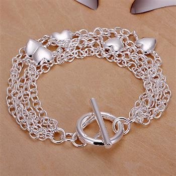 Wholesale Noble Fashion Pendant Sterling Silver Plated Bracelet Jewelry Gift Box | eBay