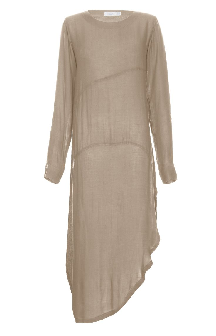 SIDE SLIT KURTI - NUDE - A long Kurti with a chic side slit, modest yet stylish elegant. Sleeves have roll up option with button fastening. Comfortable cotton crepe fabric. Pair up with leggings or straight trousers.