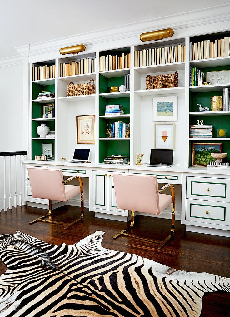 Home Office Decor Luxury Interior Design Ideas Pink And Green Zebra Rug