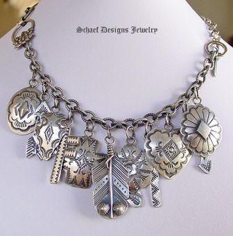 Rocki Gorman Vintage Sterling Silver Charm Bracelet | Vintage Collection | Schaef Designs Southwestern Jewelry | San Diego CA