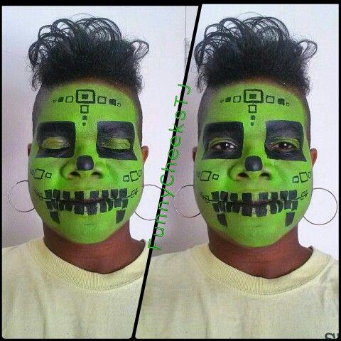 Sugar Skull Face Paintings Creeper Skeleton Minecraft Dallas