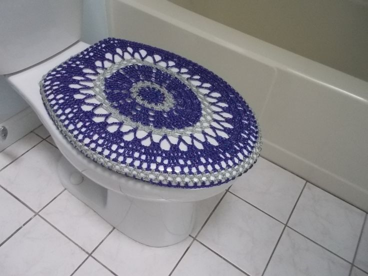 light grey toilet seat. Crochet Toilet Seat Cover or Tank Lid  eggplant light grey 52 best crochet bath images on Pinterest Bathroom