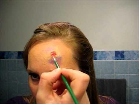 Wunden schminken mit Bastelkleber - Last Minute Halloween Schminktipp - YouTube