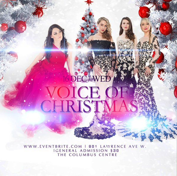 ViVA with Alessandra Paonessa in Voice of Christmas @ the Columbus Event Centre, Wednesday, Dec 16th @ 8pm