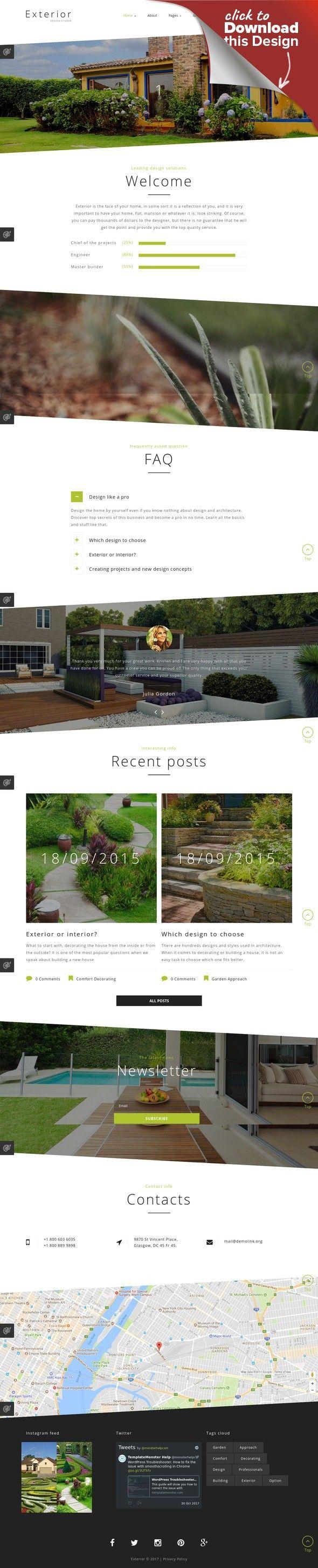 Exterior Design Studio Joomla Template CMS & Blog Templates, Joomla Templates, Design & Photography, Design, Exterior Design Templates