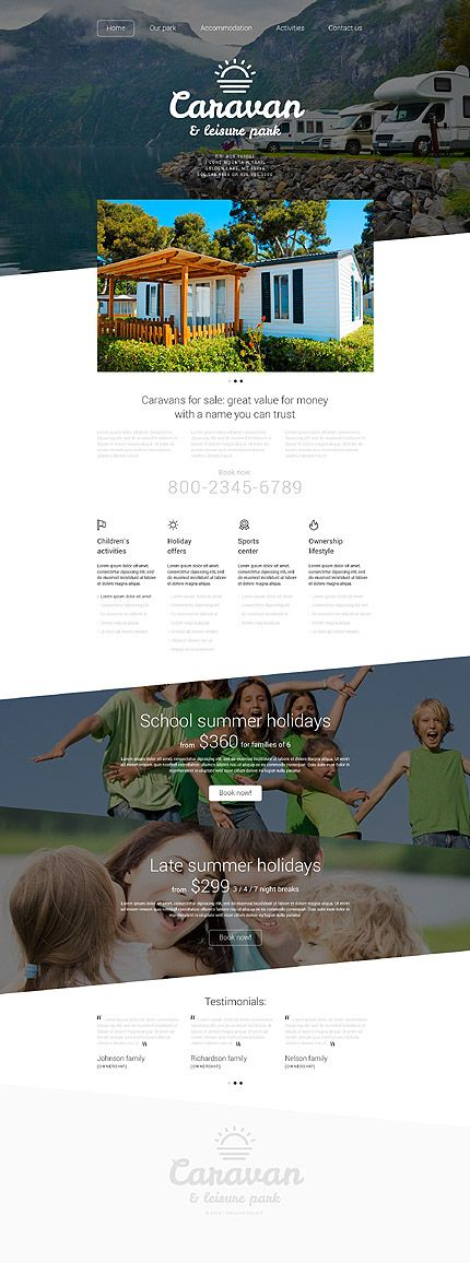 Caravan & Leisure Park #website #template. #themes #business #responsive #websitethemes