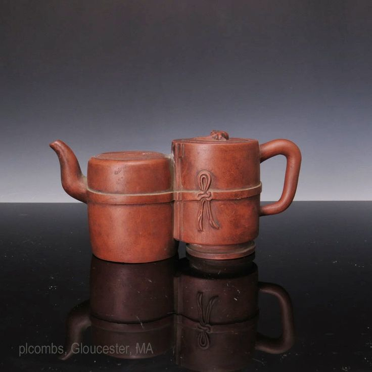 Double chamber Yixing Tea pot