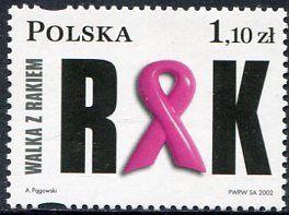 Francobolli - Lotta contro il cancro - Fight against cancer Polonia 2002