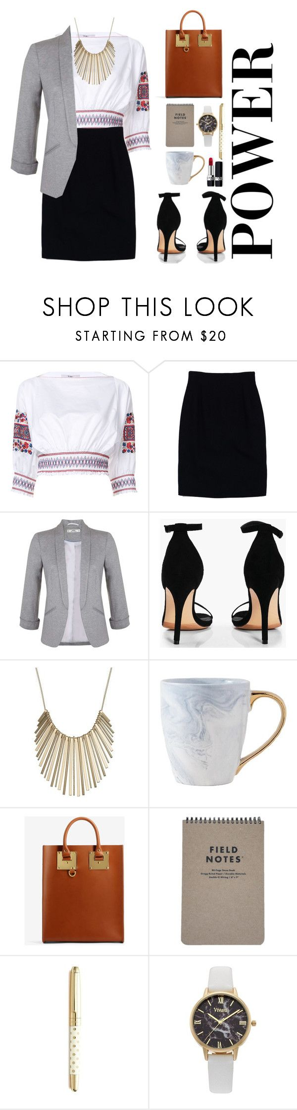 """""""the best thesis defense is a good thesis offense"""" by suchajocundcompany ❤ liked on Polyvore featuring TIBI, Christian Dior, Miss Selfridge, Boohoo, Jennifer Lopez, Sophie Hulme, Kate Spade, Vivani and MyPowerLook"""