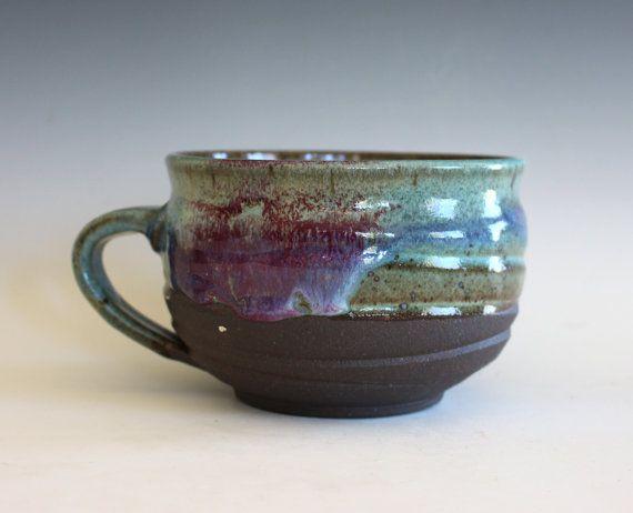 Cappuccino Mug 26 oz Pottery Coffee Mug handmade by ocpottery
