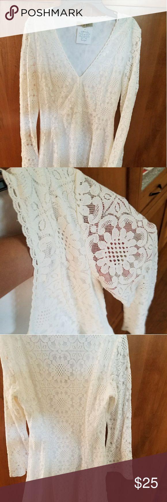 White mini lace dress Hello Friday white long sleeve mini dress small Polagram Dresses Mini