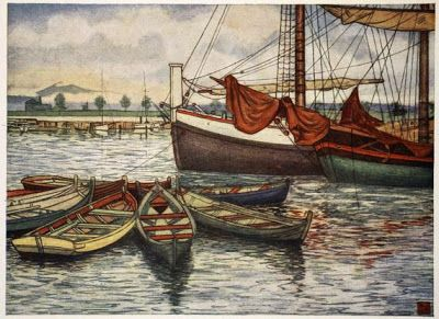 Nico Jungman (1872–1935) - Norway, 1905 Trondhjem Old Boats (+++)