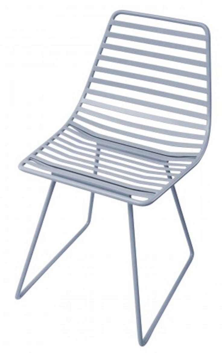 Sebra Stol Metall, Blå är en kanonfin stol i modern design från det danska märket Sebra.<br><br>Mått: B 32 x H 58 cm.<br>Sitthöjd: 33 cm.<br><br>Material: Metall.<br><br>Färg: Blå.