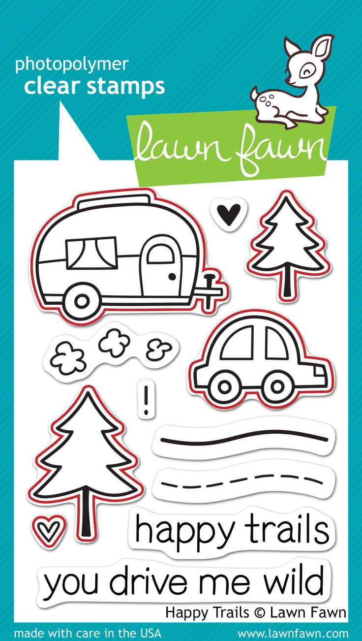 happy trails - lawn cuts Stamps and matching dies