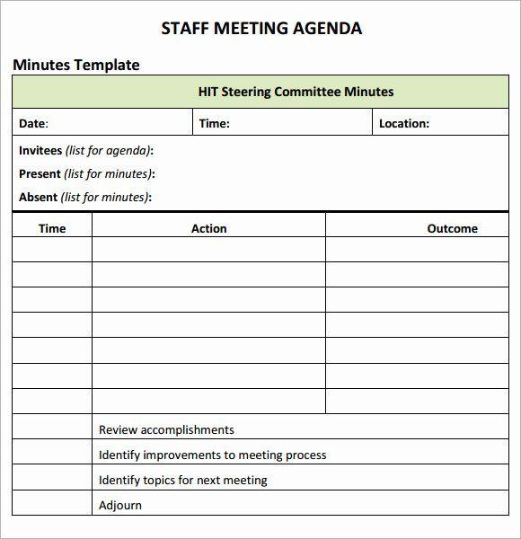 Weekly Staff Meeting Agenda Awesome Staff Meeting Agenda 7 Free