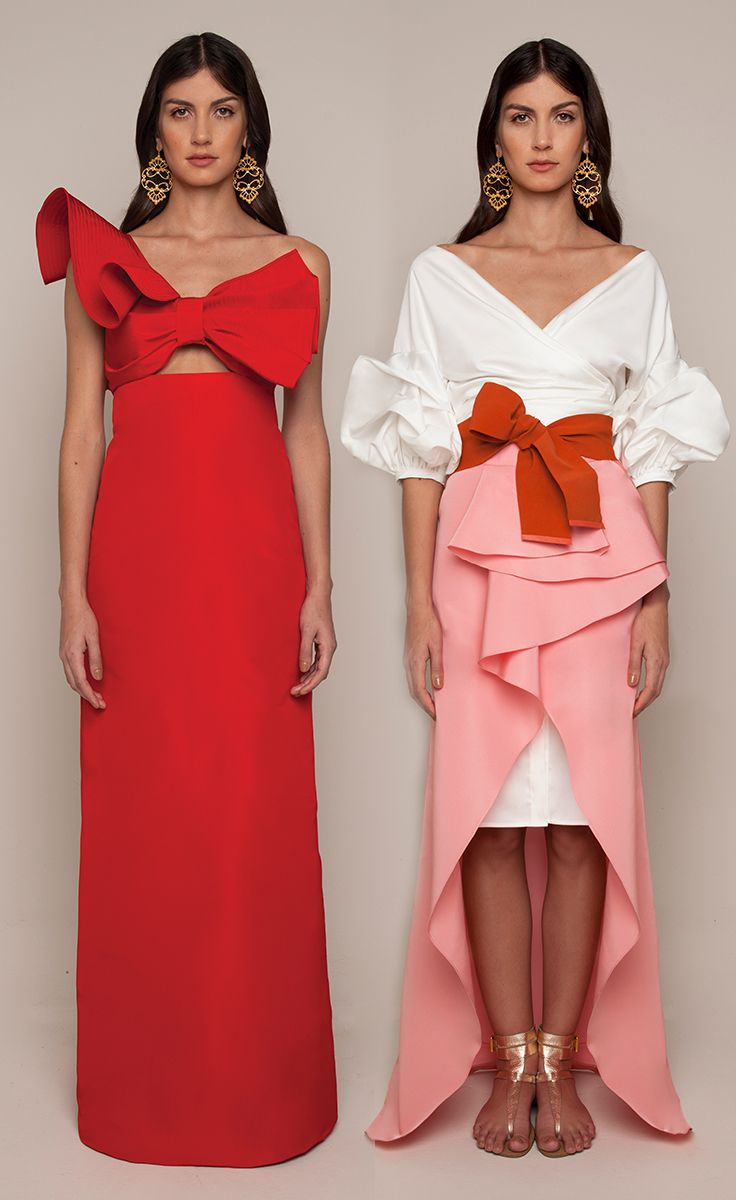 Johanna Ortiz Resort 2016 - Amapolia Dress, Tuxedo Dress and Petal Pareo Skirt