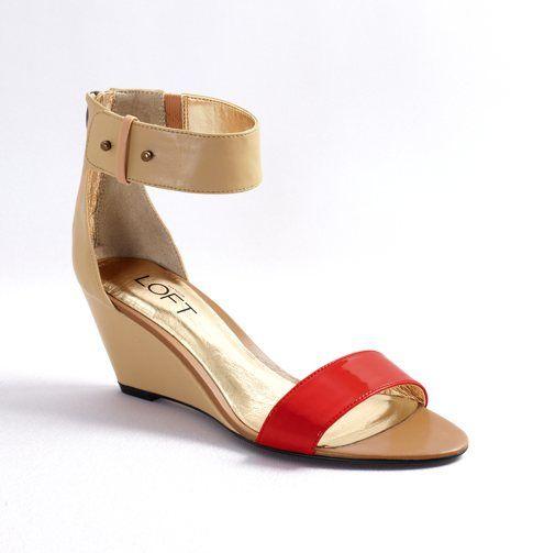 Frances Color Pop Wedges. Nude ankle strap won't cut off shorter legs.: Low Wedges, Loft Wedges, Colors, Frances Color, Color Pop, Pop Wedges