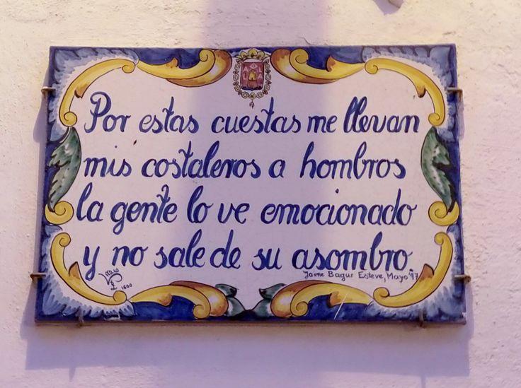 """Semana Santa en Santa Cruz (Alicante, Spain).  Passion Week of Santa Cruz (Alicante, Spain).  """"For these slopes my bearers lead me on their shoulders.  People see it feelingly and don't leave their wonder""""."""
