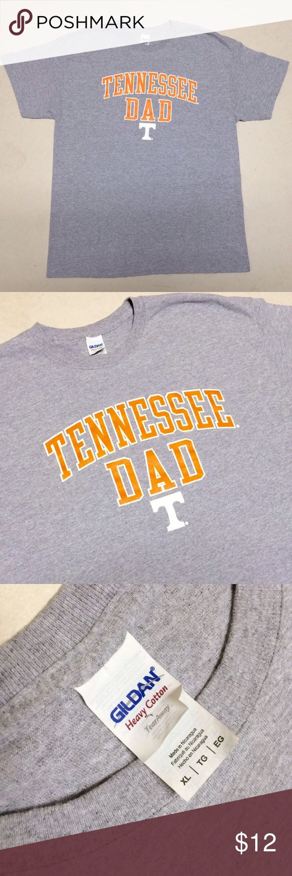 University of Tennessee - Men's T-shirt University of Tennessee  Tennessee Dad T-shirt  Men's Size XL   Great gift for Dad!! Go Vols!! Gildan Shirts Tees - Short Sleeve