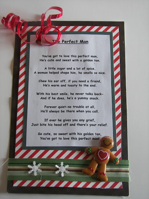 The perfect man - gingerbread man poem. | Christmas/Winter ...