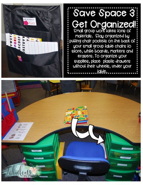 Organization at the small-group table! Check these great ideas out, and use them for your classroom!