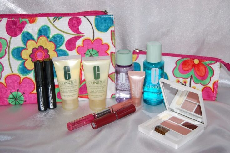 Clinique Make Up Gift Set 12 Piece All New Mascara Remover Lips Eyes Travel Bags #Clinique