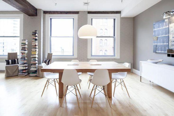 Kartell FLY Suspension + Eames ChairsVogue Designrulzcom, Cozy Apartment, Interiors Design Kartell, En Vogue, Design Interiors, Dining Redo, Vogue Designrulz Com, Dining Spaces, Tribeca Loft