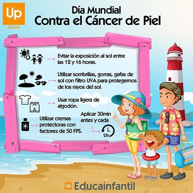 Hoy 13 de junio se celebra el Día Contra el Cáncer de Piel. El cáncer de piel es el más frecuente en el mundo, se describe como principal factor de riesgo la radiación ultravioleta (UVA) y la exposición temprana al sol e intensa durante la infancia. . . . #diamundialcontraelcancerdepiel #cancerdepiel #cancer #sol #rayosdesol #rayosuva #calor #exposicionalsol #consejosup #proteccion #niños #niñas #cremasprotectoras #ropaligera #playa #piscina #madres #padres #familia #prevencion…