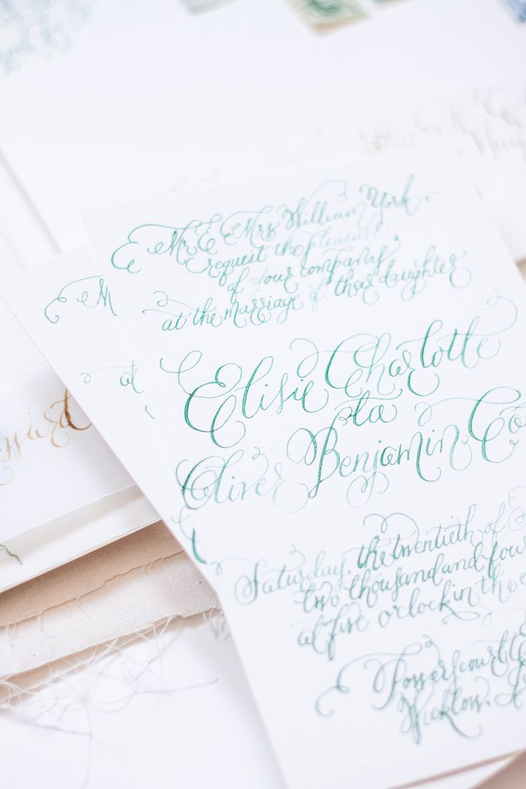Design House Of Moira Calligraphy Wedding Invitations