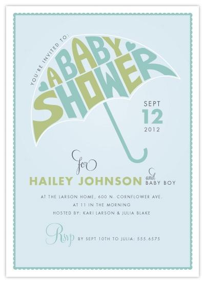 baby shower umbrella invite