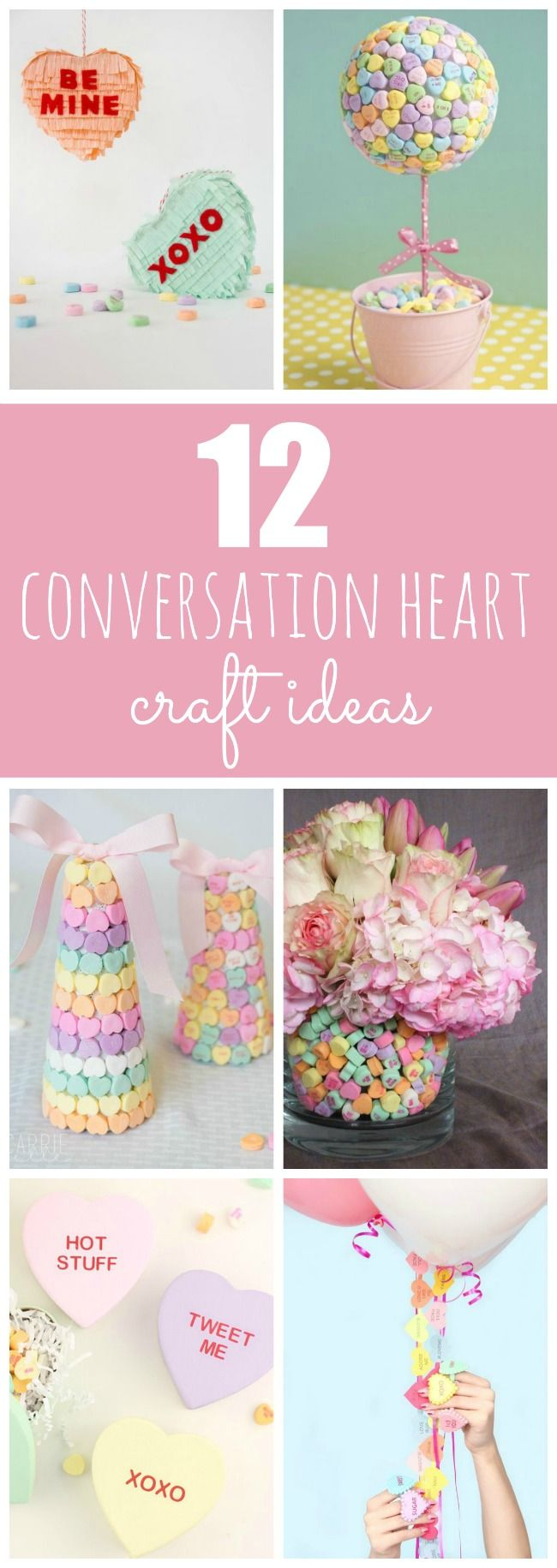DIY Conversation Heart Craft Ideas for Valentine's Day featured on Pretty My Party