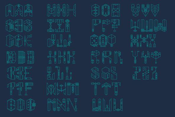 BANKS album font - Dogma