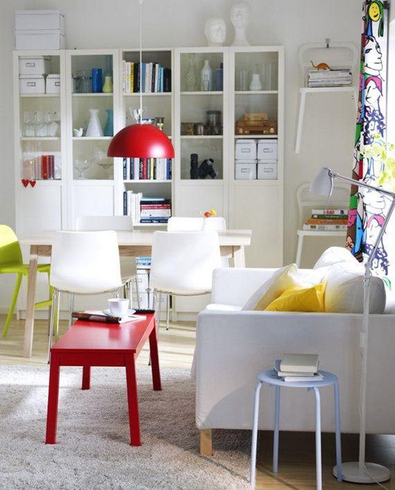 Small Home Office Ideas In Living And Dining Room : Decorative Dining Room  With Small Home Office Ideas And Display Storage Design